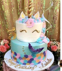 Mermaid Unicorn Mermicorn Birthday Cakes Parties