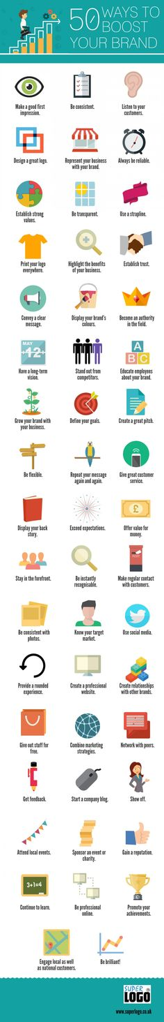 Chart: 50 Ways To Boost Your Brand - DesignTAXI.com