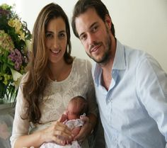 Prince Félix and Princess Claire of Luxembourg who welcomed their little bundle of joy Sunday 15 June 2014 baby Princess Amalia