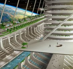"Floating Space City [Breakaway Civilization], 'Asgardia' Holds Meeting on Earth to Dispel Fears It Will Be a ""Kingdom"" Futuristic City, Futuristic Technology, Futuristic Architecture, Architecture Art, Technology Gadgets, Chinese Architecture, Minimalist Architecture, Futuristic Design, Technology Design"