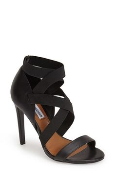 Free shipping and returns on Steve Madden 'Dancr' Sandal (Women) at Nordstrom.com. Clean, modern minimalism shines through on a standout leather sandal fashioned with elasticized straps to ensure a custom fit.