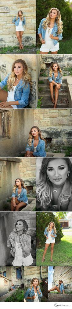 d-Squared Designs Edwardsville, IL Senior Photography. St. Louis, MO Senior Photographer. Beautiful girl. Denim style. Denim jacket and romper. Stylish senior.