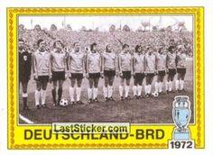 GERMANIA OVEST 1972 vince il campionato europeo superando nel gruppo eliminatorio l'Inghilterra, vittoria 1-3 a Londra 0-0 al ritorno a Berlino vittoria in semifinale 2-1 col Belgio padrone di casa e netta vittoria 3-0 nella finale contro l'URSS