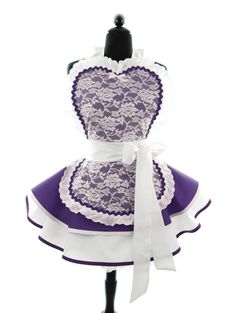 Royal Purple French Maid Apron