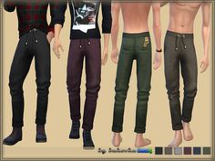 Pants are designed for men from teenagers to the elderly, are installed autonomous way, my new mesh, 6 coloring options. Found in TSR Category 'Sims 4 Male Everyday'
