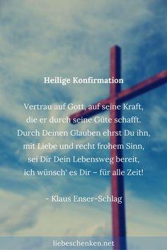 Bibelverse, Zitate, Gedichte & Sprüche zur Konfirmation für Konfirmationskarten // Glückwünsche zur Konfirmation