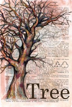 flying shoes art studio: painting on dictionary paper art Book Page Art, Book Art, Altered Books, Altered Art, Newspaper Art, Dictionary Art, Tree Art, Tree Of Life Art, Art Plastique