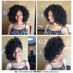 Flexi rod set on Mae's Natural Hair (she's a YouTuber)