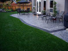 58 Ideas Cement Patio Steps Stamped Concrete For 2019 Concrete Backyard, Concrete Patio Designs, Cement Patio, Small Backyard Patio, Backyard Patio Designs, Pergola Patio, Pergola Kits, Backyard Ideas, Stamped Concrete Patios