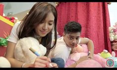 """This is Kathryn Bernardo and Daniel Padilla preparing Christmas gifts and Christmas cards together during the taping and recording of the 2015 ABS-CBN Christmas Station ID, """"Thank You for the Love!"""" #KathNiel #ABSCBNChristmasStationID #ThankYoufortheLove"""