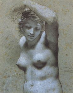 """Pierre-Paul Prud'hon Posted on January 27, 2013 by artxart  """"Female Nude Raising Her Arm"""""""