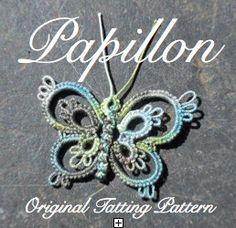 Papillon   TATTING PATTERN by LaCossette on Etsy, $3.25