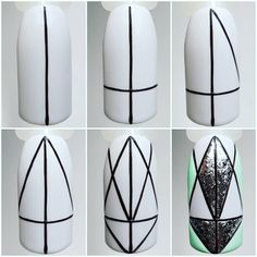 All of these nail designs and styles are as simple as they are charming. If you're always in search of creative ideas and fresh designs, nail art designs are a good way to display your personality as well as to be original. Line Nail Art, Gel Nail Art, Nail Art Diy, Easy Nail Art, Diy Nails, Acrylic Nails, Nail Art Designs Videos, Simple Nail Art Designs, Nail Drawing