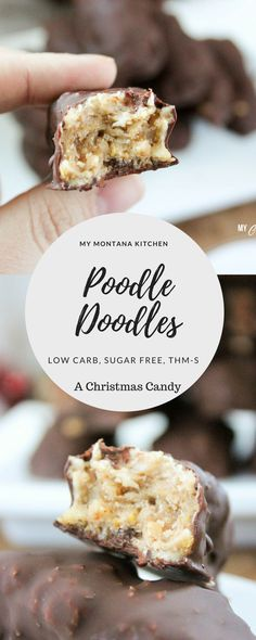 Low Carb Poodle Doodles (THM-S, Sugar Free) #trimhealthymama #thms #chocolate #peanutbutter #christmas #candy #lowcarb #sugarfree #glutenfree