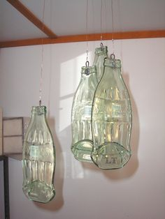 LT Coca Cola Coke glass wind chimes up-cycled..