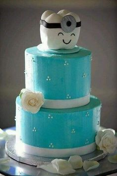For a dental couple's wedding. if i get married to someone in dental school ; Beautiful Cakes, Amazing Cakes, Dental Cake, Doctor Cake, Tooth Cake, Teeth Dentist, Dental Kids, Cute Cakes, Sweet Cakes