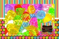 Acrylic DIAMOND Shaped Pendants, Qty 20, 24mm Bead, Chunky Bead, Chunky Necklace, Diamond Shape Bead, BUBBLEGUM Beads, Gumball Beads