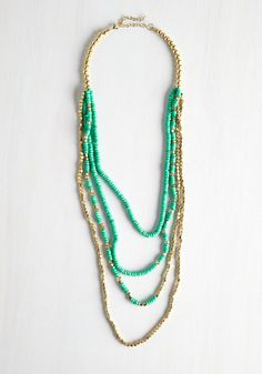 Top of the Shine Necklace. Adorn your look with this beaded necklace for a bit of exceptional flair!  #modcloth