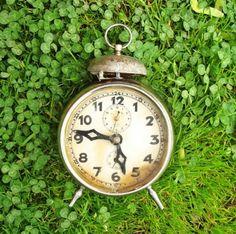 antique german alarm clock.