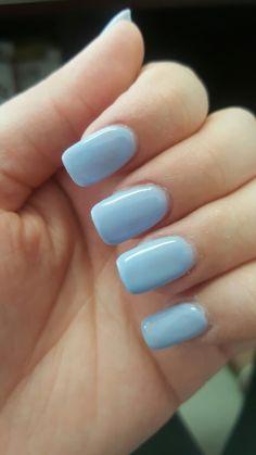 babyblue nails #squoval #nails #babyblue