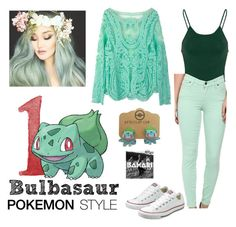 159-Bulbasaur by dimibra on Polyvore featuring Glamorous, CJ by Cookie Johnson, Converse and pokemonstyle