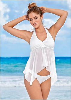 46e5809e9eb MESH SHARKBITE TANKINI TOP, LOW RISE BIKINI BOTTOM Bikini Set, Bikini  Bottoms, Instagram