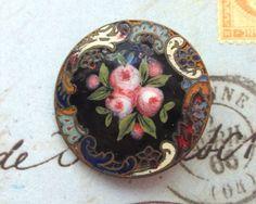 Antique French Enamel and Cloisonne Button by SalonVintique, $75.00