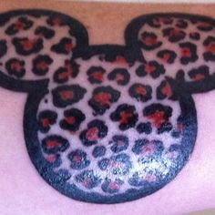 My first one - a Leopard Print Mickey Mouse Tattoo!