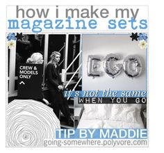"""""""how i make my magazine sets 