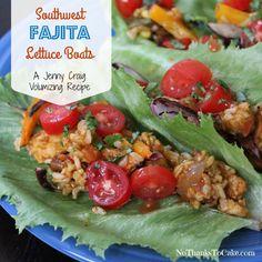 Jenny Craig Volumizing Southwest Fajita Lettuce Boats | No Thanks to Cake