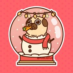 Puglie's never been a great snowpug because he always eats the nose… Wishing all my Pootie Pals the greatest and warmest of holidays