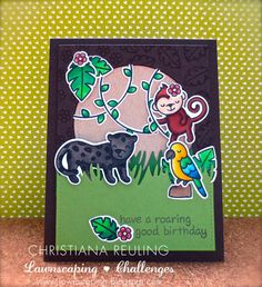 Christy Gets Crafty: Roaring Good Birthday - Lawnscaping Challenge #104