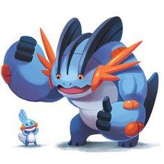 Les Pokémon et leurs bébés : Laggron et Gobou