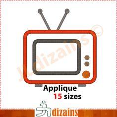 Tv Applique Design  Machine Embroidery Design