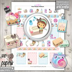 Soap Stickers, Planner Stickers, Kawaii Stickers, Printable Planner Stickers, Soap Planner Stickers, Planner Accessories, Spa Stickers