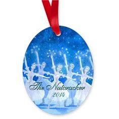 Dance of the Snowflakes image on this 2014 commemorative porcelain ornament.