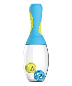 Store protein powder or supplement powder in handle!!! Perfect for the gym bag! Blue 20-Oz. Samba Shaker Bottle by Ad-N-Art #zulilyfinds