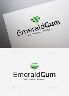 Emerald Gum Logo — Vector EPS #Emerald Gum Logo #agency • Available here → https://graphicriver.net/item/emerald-gum-logo/10004265?ref=pxcr