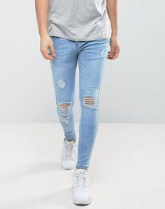 SikSilk Super Skinny Jeans With Ripped Knees