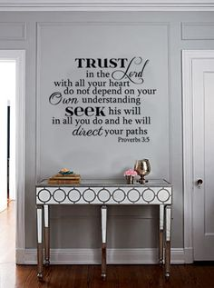 Bible Scripture Vinyl Wall Art Decal Trust in by designstudiosigns