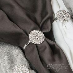 1pc Pearl Napkin Ring Rhinestone and Pearl Stretch Loop Wedding