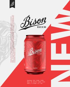 """Check out this @Behance project: """"Bison - beer"""" https://www.behance.net/gallery/44560387/Bison-beer"""