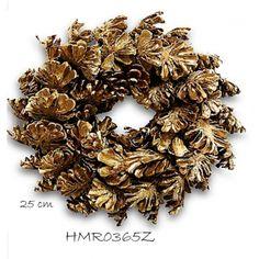 Guirlanda de Pinhas Dourada