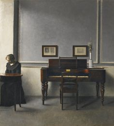 Ida by the Piano - Vilhelm Hammershøi, 1901.
