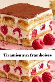 Healthy Dessert Recipes 51658 Raspberry Tiramisu - Page 2 - All recipes com Raspberry Tiramisu, Raspberry Desserts, Ww Desserts, Lemon Desserts, Healthy Dessert Recipes, Fruit Recipes, Smoothie Recipes, Sweet Recipes, Cake Recipes