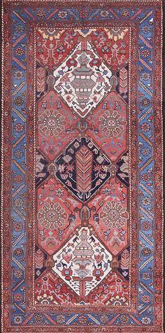 "Katrina's Pick:#21458 antique Persian Bakhtiari 5'10"" x 10'4""circa 1900http://www.rahmanan.com/inventory/show/21458/"