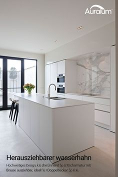 The kitchen that is top-notch white kitchen , modern kitchen , kitchen design ideas! New Kitchen, White Modern Kitchen, Home Decor Kitchen, Kitchen Decor, Contemporary Kitchen, Kitchen Remodel, Home Kitchens, Kitchen Design, Kitchen Living