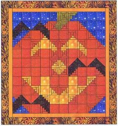 Halloween pumpkin w/ bats quilt pattern. Link to a for purchase kit, but shouldn't be too hard to figure out how to make.