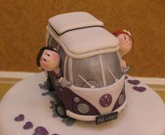Camper Van Wedding Cake Topper