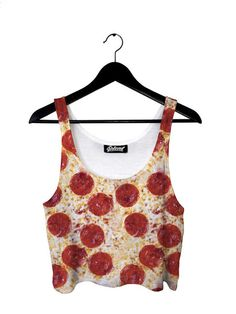 belovedwear® presents the #Pizza #CropTop   • 100% Polyester • All Over Photographic Print • Made in California